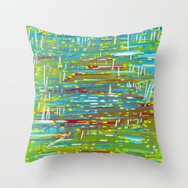 Reedy Pond Throw Pillow