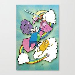 Finn Jake and Friends Canvas Print