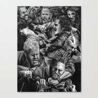 sons of anarchy Canvas Prints featuring sons of anarchy by dollface87