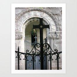 At the Monastery Gate Art Print