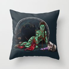 Aren't you a little brainless for a stormtrooper? (Zombie Slaved Princess Leia) Throw Pillow