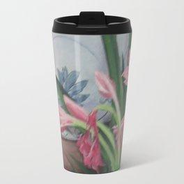 Porcelain bowl with lilies Travel Mug