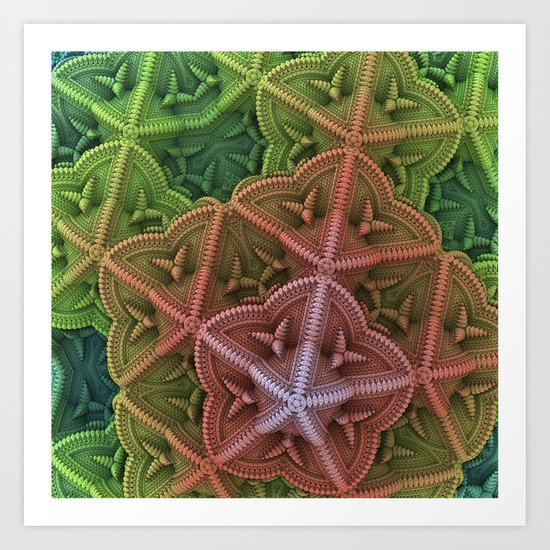 Fractal Starfish Art Print