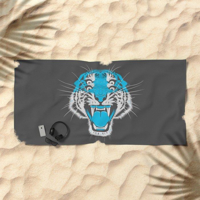 Tiger Head Beach Towel