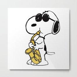 Snoopy Trumpet Metal Print
