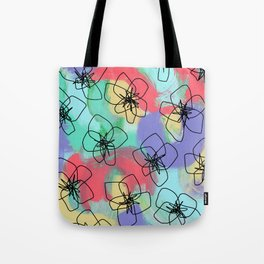 Hibiscus Family no.2 - hibiscus flower illustration floral pattern summer painting Tote Bag