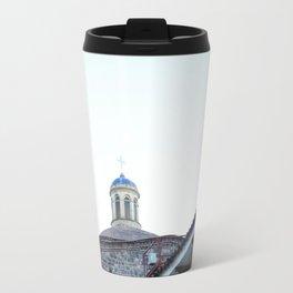 Orange and Blue Travel Mug