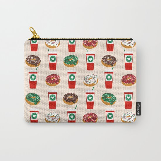 Coffee donuts foodie brunch breakfast desserts coffee lovers gifts Carry-All Pouch