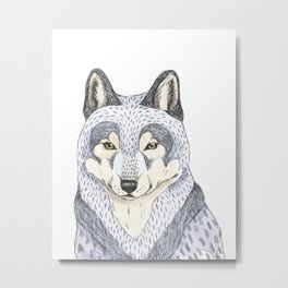 Woodlands wolf Metal Print