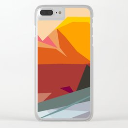 Abstracto14 Clear iPhone Case
