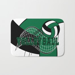 Volleyball Game - Dark Green Bath Mat