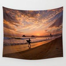 Surf City Sunsets   9/10/15   Huntington Beach California  Wall Tapestry