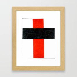 Kazimir Malevich - Hieratic Suprematist Cross (new editing) Framed Art Print