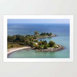 Scarborough Bluffs from the top II Art Print