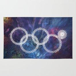 Sochi Olympic Rings Rug