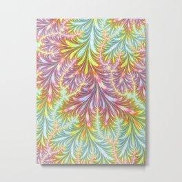 Pastel Fronds Metal Print
