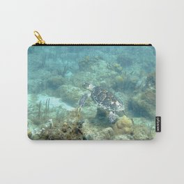 Watercolor Turtle, Hawksbill Turtle 09, St John, USVI Carry-All Pouch