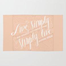 Live Simply Rug