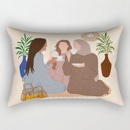 Sibling Goals / Sisters Love Rectangular Pillow