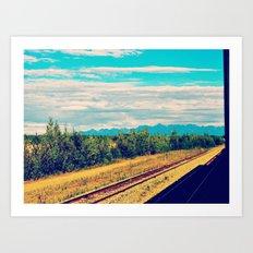 Alaskan Railroad  Art Print