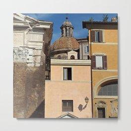 Roman Facades Rome Italy Metal Print