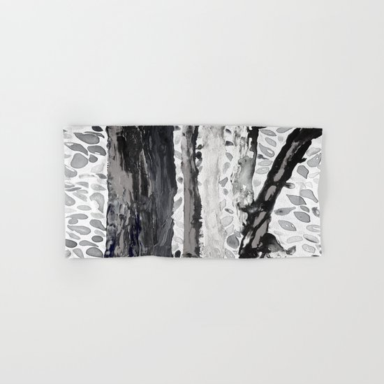 Rainbow Eucalyptus Graffiti artist tree from shedding bark South Pacific Black and White Night Hand & Bath Towel