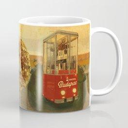 Retro Bakering Budapest Street Food Cart (Hungarian trolley bus) Coffee Mug