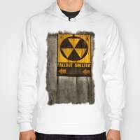 fallout Hoodies featuring Fallout Shelter by Julie Maxwell
