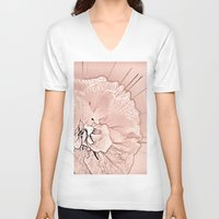 blush V-neck T-shirts featuring Blush by Shalisa Photography
