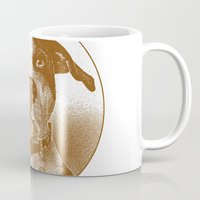 pit bull Mugs featuring Pit Bull by George Peters