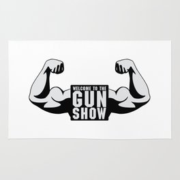 The Gun Show Gym Quote Rug