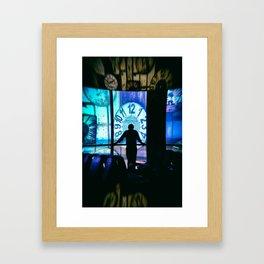 The Man  in time Framed Art Print