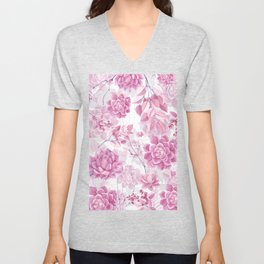 PINK SUCCULENTS #society6 Unisex V-Neck