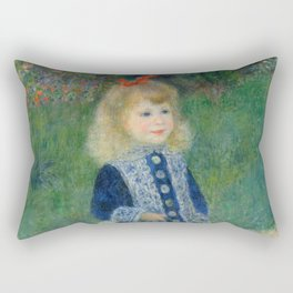 Girl with a Watering Can Rectangular Pillow