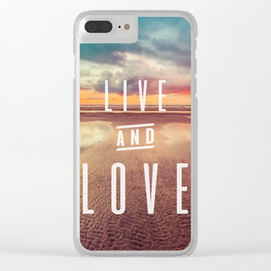 Live and Love beach text Clear iPhone Case