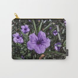 Purple Flower Bloom Carry-All Pouch