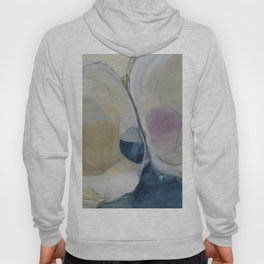 quahog shells - abstract painting in modern fresh colors navy, pink, cream, white, and gold b Hoody
