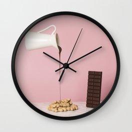 Chocolate peanuts recipe Wall Clock