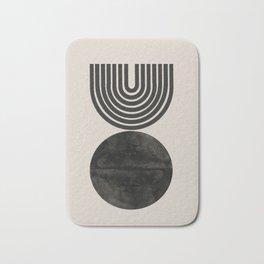 Woodblock Print, Modern Art Bath Mat