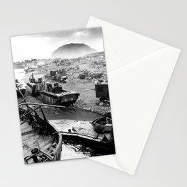 Iwo Jima Beach Painting Stationery Cards