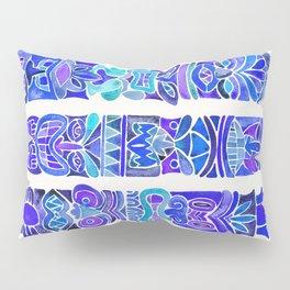 Tiki Totems – Indigo Palette Pillow Sham