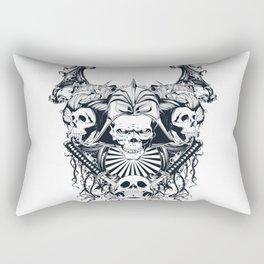 Japan samurai skull Rectangular Pillow