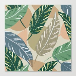 Shell Ginger Leaves Canvas Print