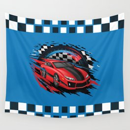 Race Car Wall Tapestry