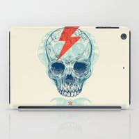 owls iPad Cases featuring Skull Bolt by Rachel Caldwell