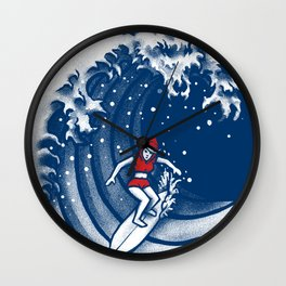 Little Red Surfing Hood Wall Clock