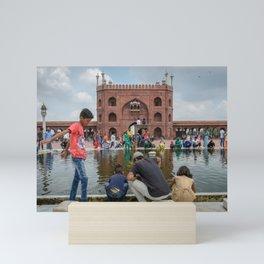 Ablution Pool at Jama Masjid Mosque Mini Art Print