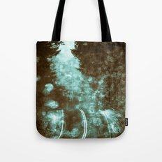 Forest Wanderlust - Adventure Road Trip in Teal Blue Green Tote Bag