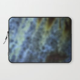 Blue and rust blur Laptop Sleeve