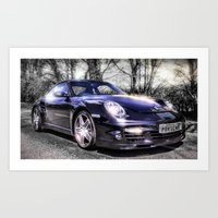 porsche Art Prints featuring Porsche by ian hufton